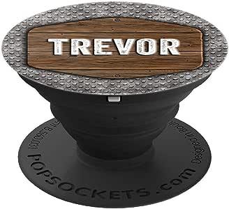 Trevor Gift 复古仿古乡村风格防滑板 Trevor PopSockets 手机和平板电脑握架260027  黑色