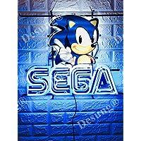Desung Sega Arcade 视频游戏室霓虹灯灯(多种尺寸)高清生动印刷技术男士洞穴啤酒酒酒吧酒吧手工制作真玻璃管灯 NT31 19 Inches