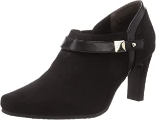 Tean 浅口鞋 TN1747_BLA-S_24.5 女士 黑色绒面 24.5 厘米 2_e