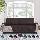 RHF 双面沙发套、沙发套、狗沙发套、沙发套、沙发套、沙发套、沙发套、沙发保护器、家具保护罩、可机洗({尺寸}:${颜色}) 巧克力色/米色 Sofa-Extra Wide sf_cv_2s-3x-c-b