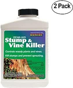 Bonide 害虫驱赶剂(Bonide Vine and Stump Killer 带涂抹器 8 液体盎司(约 236.6 毫升) - 2 件装。