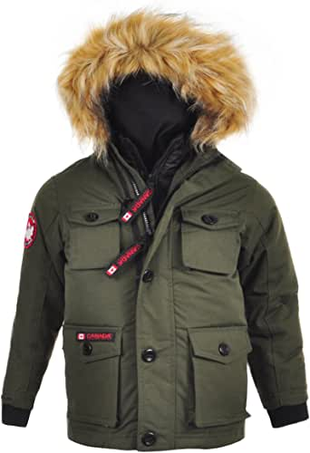 CANADA WEATHER GEAR 男孩 2 件套保暖大衣 Bomber-cw057-橄榄色 4T