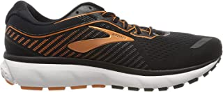 Brooks 男式 Ghost 12 跑鞋 Black Turbulence Orange 6.5 UK (40.5 EU)