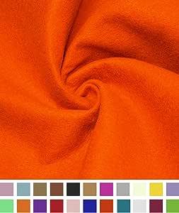 Barcelona etta | 亚克力毛毡面料 | 182.88 厘米宽 | 1.5mm 厚 | DIY 艺术和工艺品,缝纫,毛毡床单,靠垫和衬垫 橙色 1 Yard Felt-Orange-1yd