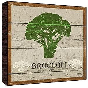Green Leaf Art Broccoli Wall Art, Large
