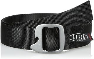 bison 百帝思赞 男式 户外多功能腰带 战术腰带军迷腰带 锁扣可做工具 65BLKL 黑色