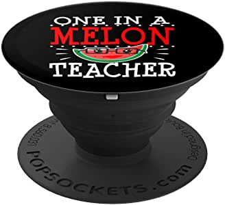 One In A Melon Teacher Thank You Year Day Day Gift PopSockets 手机和平板电脑握架260027  黑色