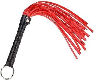 Tamama 骑马 Crop-Leather Harness Handle Crop 教学训练工具 带小型裁剪