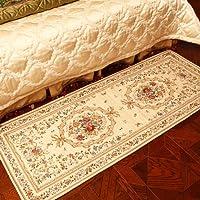 易普美家 美式乡村 田园地垫 玄关地垫 卧室床边地毯 梳妆台脚垫 ED006-1米黄 70×180cm