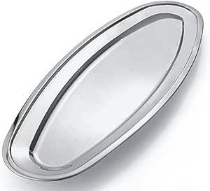 不锈钢鱼缸 — 菜盘 — 盘子 — 烤肉盘,鱼盘(鱼盘) — 30 厘米 钢铁灰 22 IN KG-21363