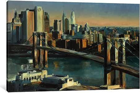 """iCanvasART 1 件 Into Manhattan 帆布画 Marilyn Hageman 创作 12"""" x 8"""" WAC864-1PC3-12x8"""