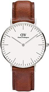 Daniel Wellington 丹尼尔惠灵顿 女式 指针式石英手表 皮革表带 0607DW,白,Standard
