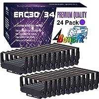 (24 包,紫色,超值装)4Benefit POS 色带兼容爱普生 ERC-30 ERC-34 ERC-38 色带盒 ERC30/34/38 适用于爱普生 KN506 TM 200 TMU 220 TMU230 打印机