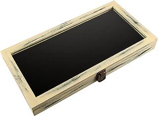 Andrew 家族玻璃*珠宝手掌盒 72 个槽分隔环收纳盒 珠宝盒 象牙色 43178-644869