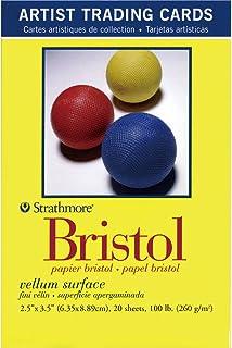 Strathmore 300 系列 Bristol Artist Trading 卡片,Vellum 表面,20 张