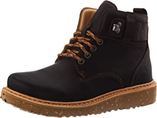 El Naturalista 中性款成人 N5555 软粒面黑色/披萨拉及踝靴