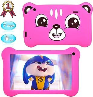 儿童平板电脑7英寸安卓9.0儿童版平板电脑带WiFi,GMS认证,双摄像头儿童平板电脑2GB+16GB,家长控制,40+APP预装儿童保护壳