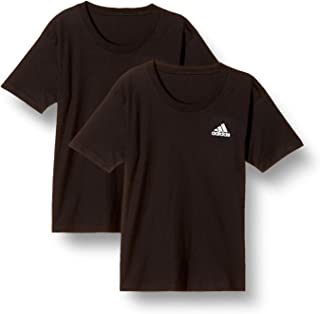 Adidas 阿迪达斯 T恤 单点徽标装饰 圆领 2件装 男童