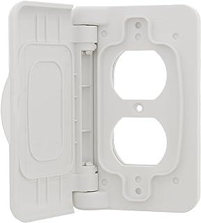 ABN 防风雨插座盖 - 用于房车露营车插座的户外替换电插头插座盖 白色 4446