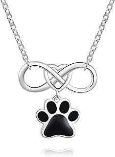 FREECO 925 纯银橄榄球吊坠项链,适用于Ashes 狗狗宠物爪印 - Cremation Jewelry 纪念品,带漏斗填充套件