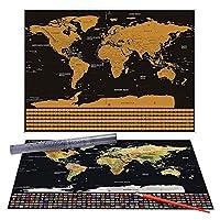 Globetrotter 世界地图刮掉地图
