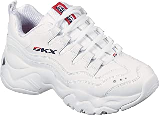 Skechers 女式 D Lites 3-0 Grand Venture 时尚运动鞋 白色