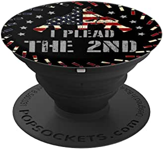 I PLEAD THE 2ND - 枪支武器步枪 2A 版 PopSockets 手机和平板电脑握架260027  黑色