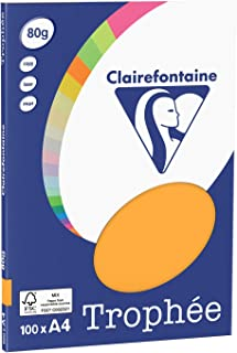Clairefontaine 纸张复印机 Trophee A4 80克 / 平方米100张 A4, 21 x 29.7 cm Clémentine