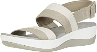 Clarks 女式 Arla Jacory 坡跟凉鞋