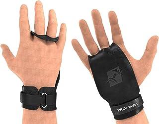 ProFitness 皮革交叉训练体操握把 - 2 孔系列 - 防滑,高手柄掌部保护,防止撕裂和撕裂,配有腕部支撑,壶铃,下巴,举重和 WOD