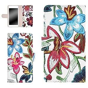 whitenuts 保护壳 手册式 【左撇子】 花朵刺绣印刷WN-OD322321 3_ Galaxy S6 edge SCV31 粉色