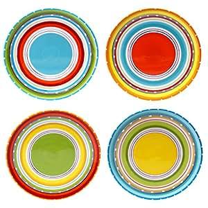 """经过国际认证,由 Nancy Green Mariachi 4 只装沙拉盘 多种颜色 8.75"""" 78602550018"""