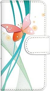 智能手机壳 手册式 对应全部机型 印刷手册 wn-288top 套 手册 蝴蝶图案 UV印刷 壳WN-PR061402-MX AQUOS Xx2 502SH B款