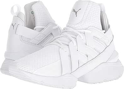 Puma 女士 Muse Echo 高帮系带跑步运动鞋 Puma 白色/Puma 白色 7.5 M US