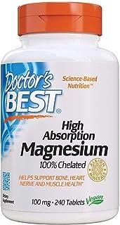 Doctor's Best 高吸收性甘氨酸镁,100%螯合,TRACCS,不缓冲,可缓解头部不适,入睡困难,能量,腿部问题,Non-GMO,素食主义者,无麸质,无大豆,100毫克,240片
