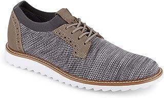 Dockers 男士 Einstein 针织/皮革智能系列正装休闲牛津鞋带 NeverWet 黑色 Oatmeal/Black Marbeled Knit/Nubuck 10 M US