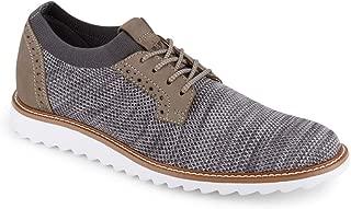 Dockers 男士 Einstein 针织/皮革智能系列正装休闲牛津鞋带 NeverWet 黑色 Oatmeal/Black Marbeled Knit/Nubuck 7.5 M US