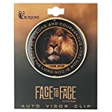 Be Strong and Courageous 1 Chronicles 28:20 Lion Face Round Metal Visor Clip