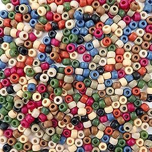 多色塑料工艺小马珠,6x9 毫米,500 颗珠子 Americana Matte D64470-500