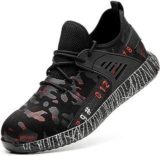 SYLPHID 钢头鞋工作*鞋男女轻便透气工业建筑运动鞋防穿刺鞋履