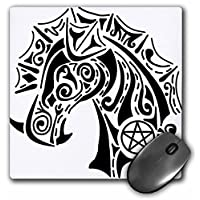 3dRose LLC 8 X 8 X 0.25 Inches Pentacle Dragon Pagan Fantasy Tribal Witchcraft Abstract Mouse Pad (mp_23175_1)