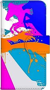 智能手机壳 手册式 对应全部机型 印刷手册 wn-519top 套 手册 动物效果 UV印刷 壳WN-PR233723-ML LG G3 Beat LG-D722J 图案E
