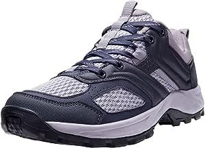 CAMEL CROWN 徒步鞋男式/女式网球越野跑步背包散步鞋舒适防滑运动鞋轻便运动徒步低帮靴 Black-women 7.5