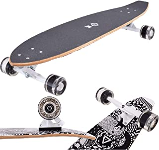 Streetsurfing None Street Surfing Rumble Kicktail Board,黑色,91厘米