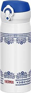 THERMOS水瓶真空保溫手機杯一觸式開型0.4L藍白色JNL-402 BLWH