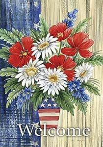 Toland Home 花园爱国花束 花园旗帜 Garden-Small-12.5x18-Inch 多种颜色 119591