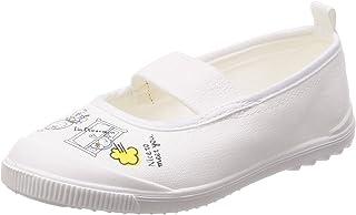 [月星] 室内鞋 儿童 鞋 哆啦A梦 角色 宽松 *防臭 DRM芭蕾01 白色 14.0 cm 2E