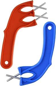 Edgemaker 磨刀套装 - 包括 Edgemaker 专业磨刀和 Edgemaker 磨刀工具,用于抛光任何刀片 - 耐用、便携、*、易于使用 橘色/蓝色 320-orange/ble
