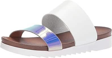 Dirty Laundry 女士 Cant Stop Slide 凉鞋 白色/银色 5.5 M US