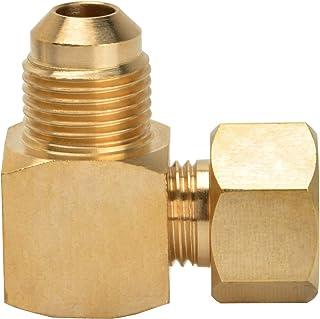 Stanbroil 90° 奥林巴斯低压燃气加热器弯头接头 - 3/8 英寸(约 1.9 厘米)内喇叭形 x 3/8 英寸(约 1.9 厘米)外喇叭形
